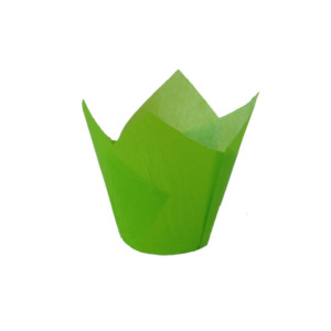 132/50 Green Tulip Baking Cup