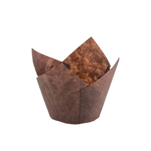 132/50 Brown Tulip Baking Cup