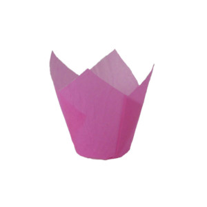 110/35 Pink Tulip Baking Cup
