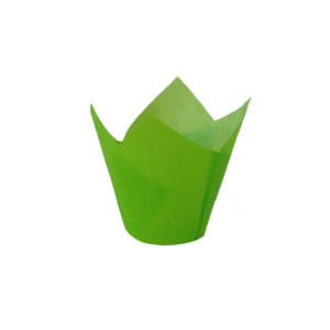110/35 Green Tulip Baking Cup