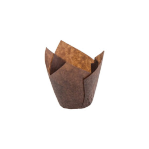 110/35 Brown Tulip Baking Cup