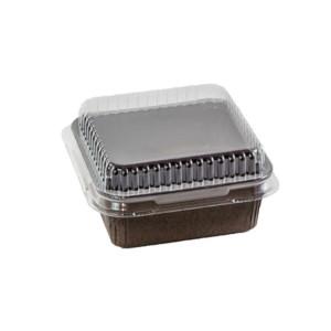 OP 80 x 80 x 35 Clear Baking Mold Lid
